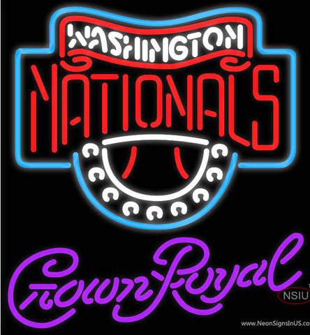 Crown Royal Washington Nationals MLB Neon Sign