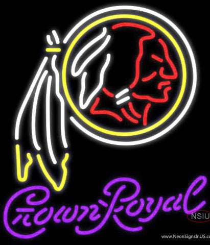 Crown Royal Washington Redskins NFL Neon Sign