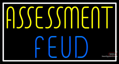 Custom Assessment Feud Neon Sign