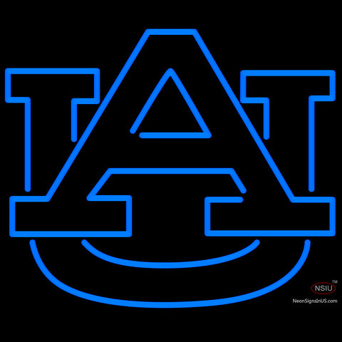 Blue Auburn Tigers University Neon Sign