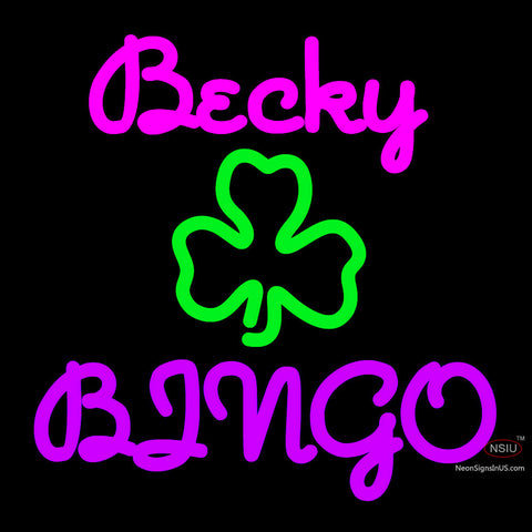 Custom Becky Bingo Neon Sign