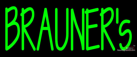 Custom Brauners Logo Neon Sign