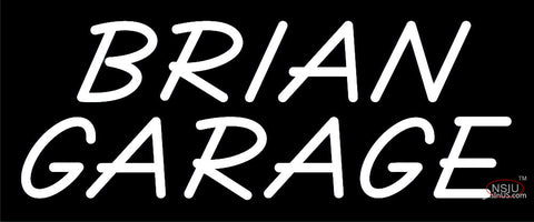 Custom Brian Garage Neon Sign