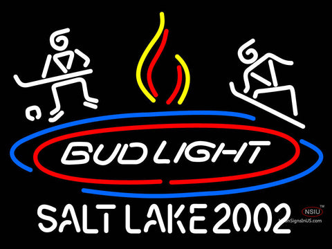 Custom Bud Light Salt Lake  Neon Sign