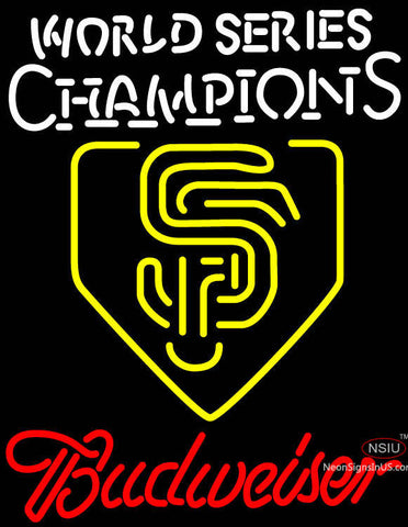 Budweiser Logo World Series Champions Sf Neon Sign
