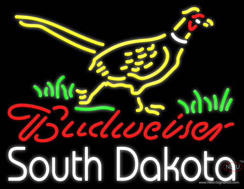Custom Budweiser Pheasant South Dakota Neon Sign