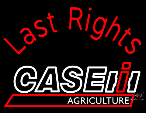 Custom Case Agriculture Last Rights Neon Sign 7