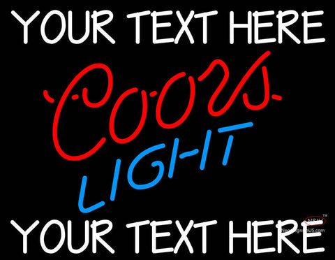 Custom Coors Light Neon Beer Sign