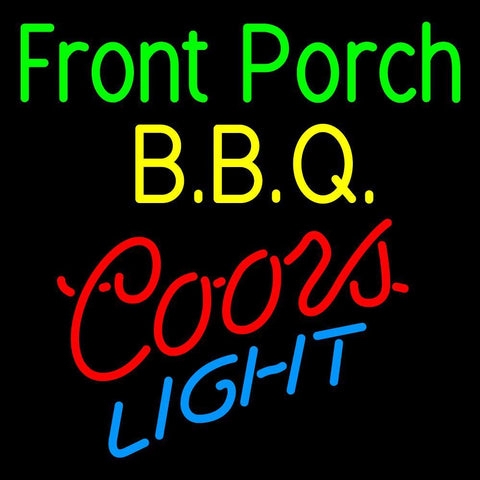 Custom Front Porch Bbq Coors Light Neon Sign