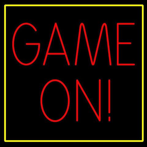 Custom Game On Neon Sign