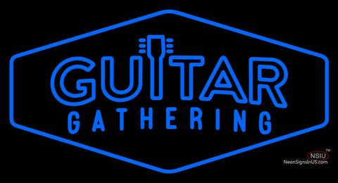 Custom Guitar Gathering Logo Neon Sign