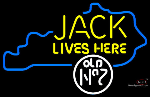 Custom Jack Daniels Jack Lives Here Kentucky Neon Sign