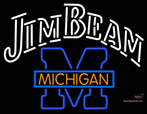 Jim Beam Michigan Logo Neon Sign