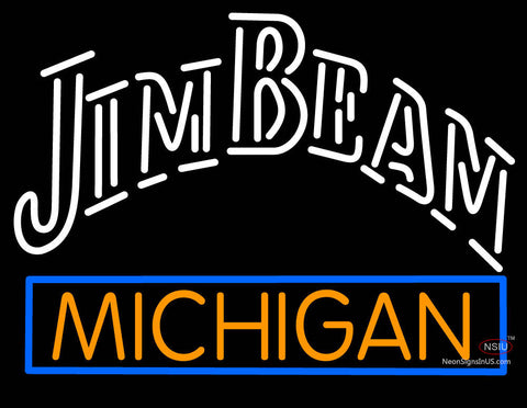 Custom Jim Beam Michigan Logo Neon Sign