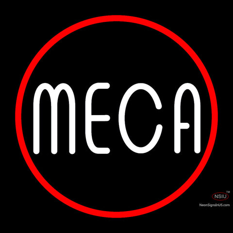 Custom Meca Logo With Border Neon Sign