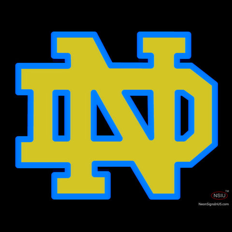 Custom Notre Dame With A Outline Logo Neon Sign