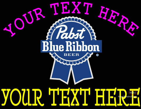 Custom Pabst Blue Ribbon Neon Beer Sign