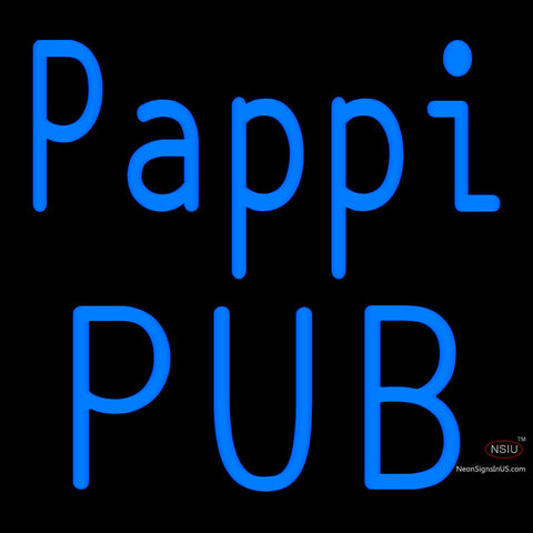Custom Pappi Pub Neon Sign