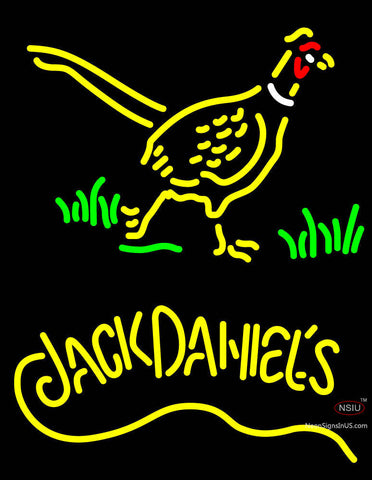 Pheasant And Jack Daniels Whiskey Neon Sign