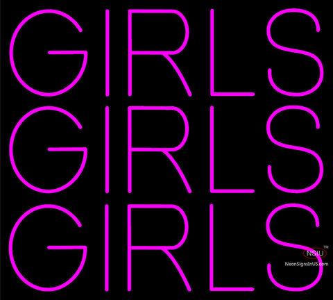 Custom Pink Girls Girls Girls Neon Sign