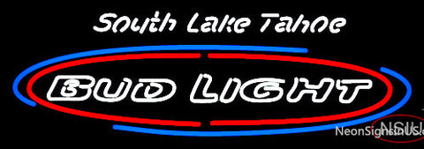 Custom South Lake Tahoe Bud Light Neon Sign