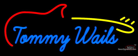 Custom Tommy Wails Electric Guitar Neon Sign