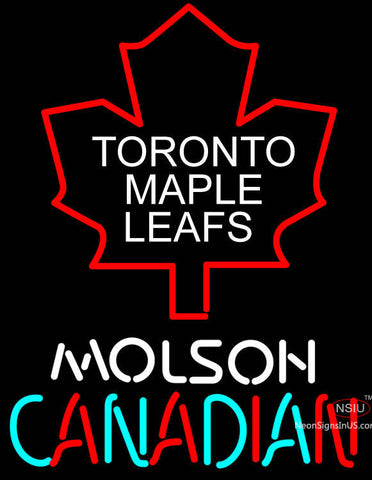 Toronto Maple Leafs Logo Molson Canadian Neon Sign
