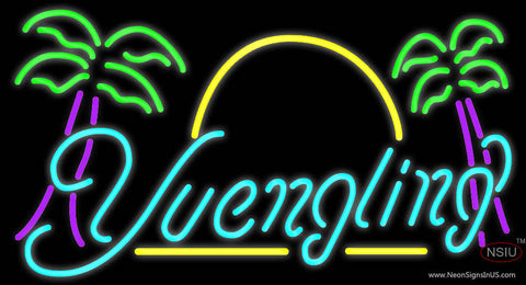 Yuengling Yellow Line Palm Trees Neon Sign