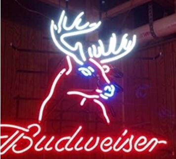 Deer head budweiser neon sign