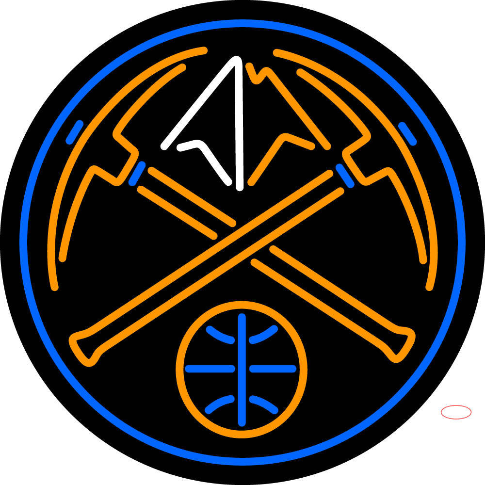 Denver Nuggets Alternate Pres Logo NBA Neon Sign