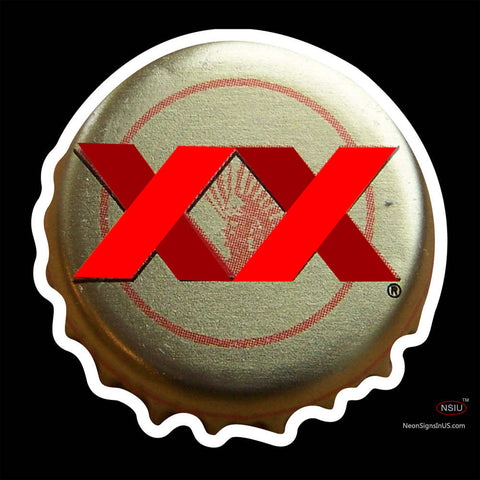 Dos Equis Amber Mexico Bottle Cap Neon Beer Sign x