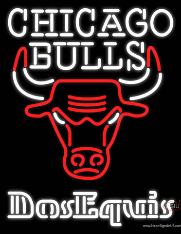 Dos Equis Chicago Bulls NBA Neon Beer Sign