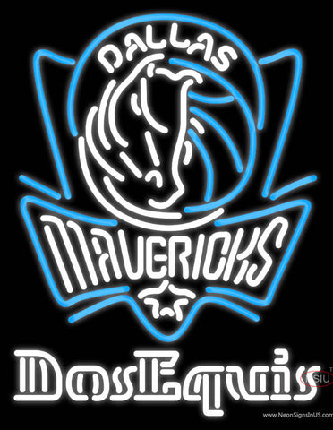Dos Equis Dallas Mavericks NBA Neon Beer Sign