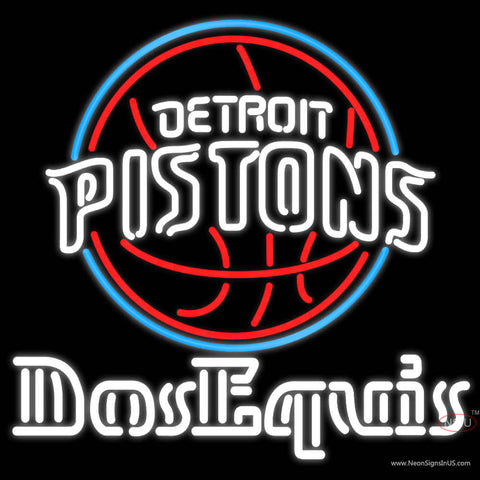 Dos Equis Detroit Pistons NBA Neon Beer Sign