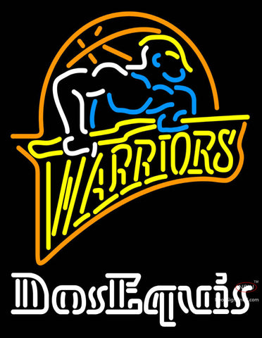 Dos Equis Golden St Warriors NBA Neon Beer Sign