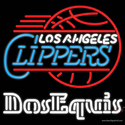 Dos Equis Los Angeles Clippers Neon Beer Sign