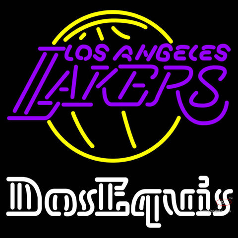 Dos Equis Los Angeles Lakers NBA Neon Beer Sign