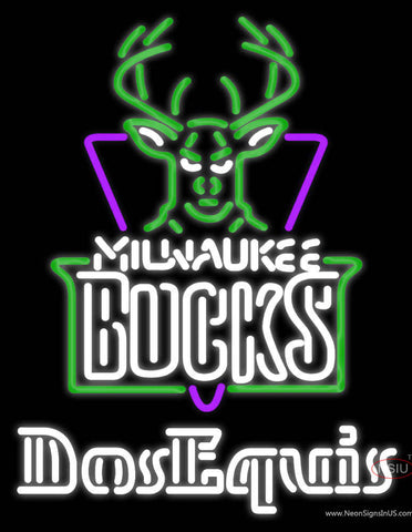 Dos Equis Milwaukee Bucks NBA Neon Beer Sign