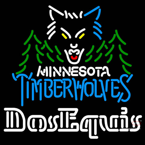 Dos Equis Minnesota Timber Wolves NBA Neon Beer Sign