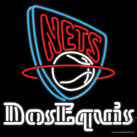Dos Equis New Jersey Nets NBA Neon Beer Sign