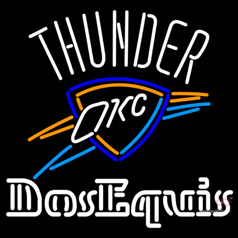 Dos Equis Oklahoma City Thunder Neon Beer Sign