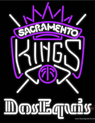 Dos Equis Sacramento Kings NBA Neon Beer Sign