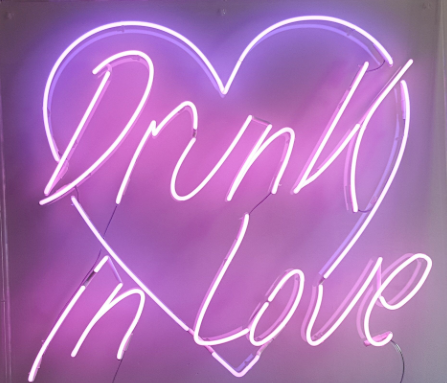 drunk in love  Real Neon Glass Tube Neon Signs