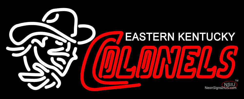 Eastern Kentucky Colonels Primary Pres Logo Ncaa Neon Sign
