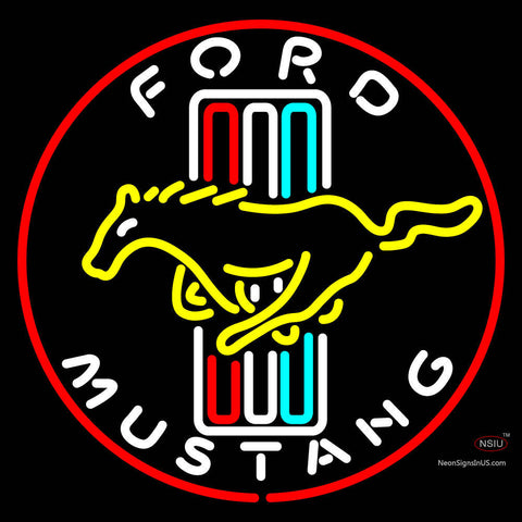 Ford Mustang Logo Neon Sign