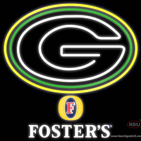 Fosters Green Bay Packers NFL Neon Sign   x