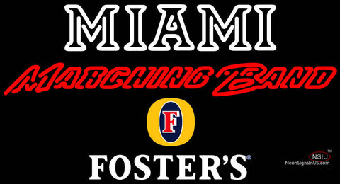 Fosters Miami UNIVERSITY Band Board Neon Sign
