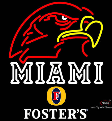 Fosters Miami UNIVERSITY Fall Session Neon Sign