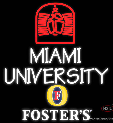 Fosters Miami UNIVERSITY Neon Sign