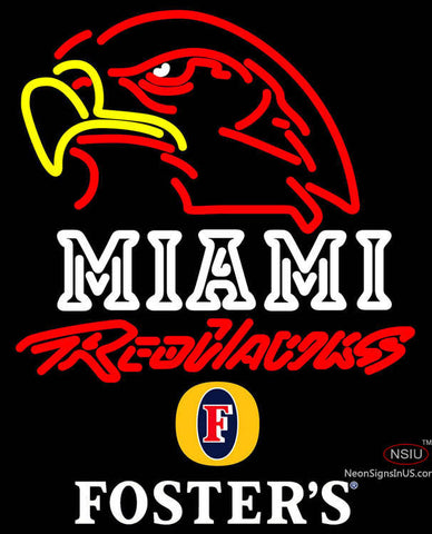 Fosters Miami UNIVERSITY Redhawks Neon Sign